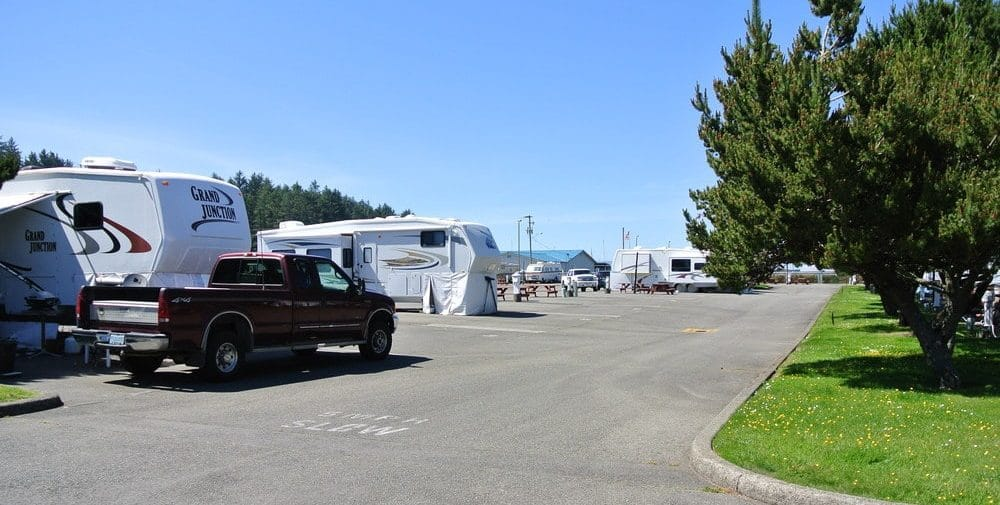 An image of an RV park.