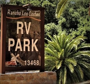Rancho Los Coches RV Park Sign