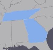 Mape of TN & GA