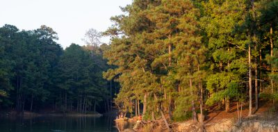 Fishing at Red Top Mountain, Georgia.