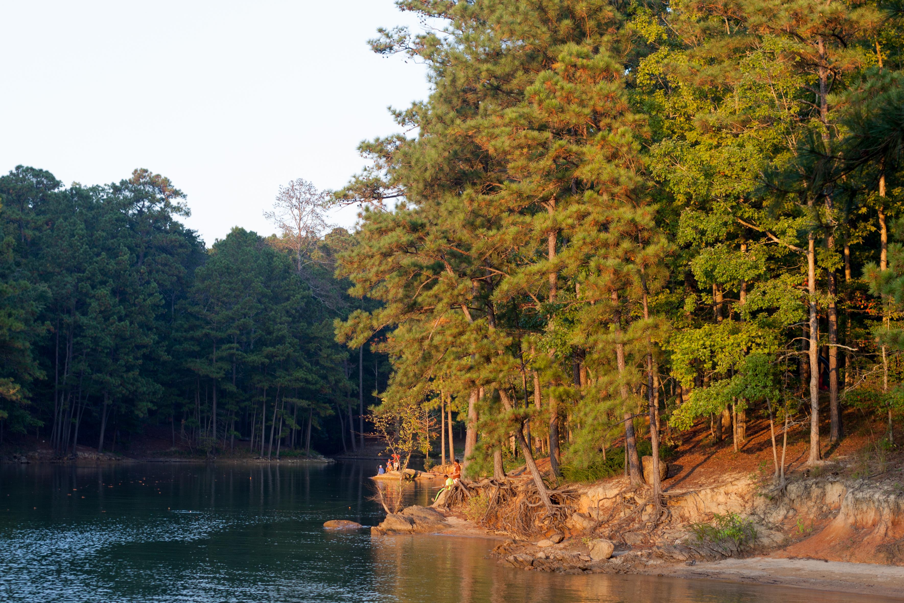 Fishing at Red Top Mountain, Georgia.