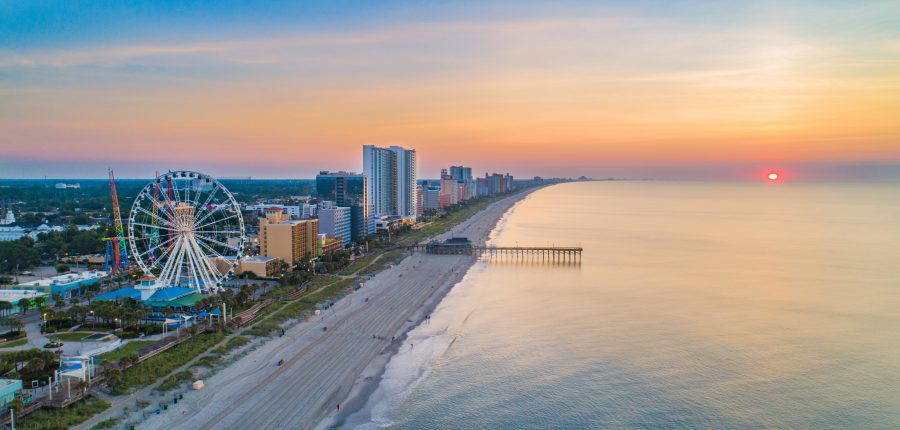 Myrtle Beach South Carolina SC Skyline Aerial View.