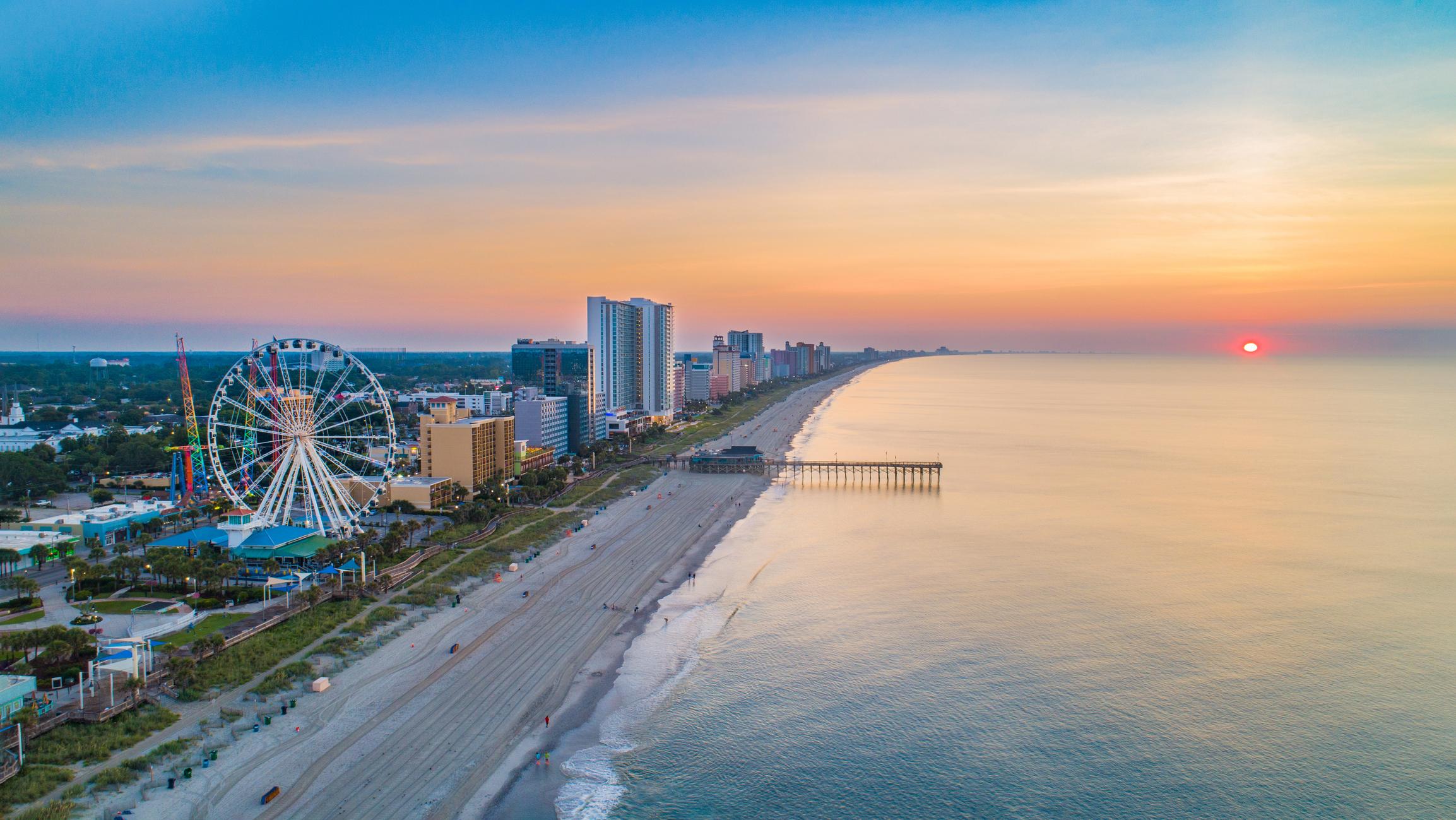 Myrtle Beach South Carolina SC Skyline Aerial View.