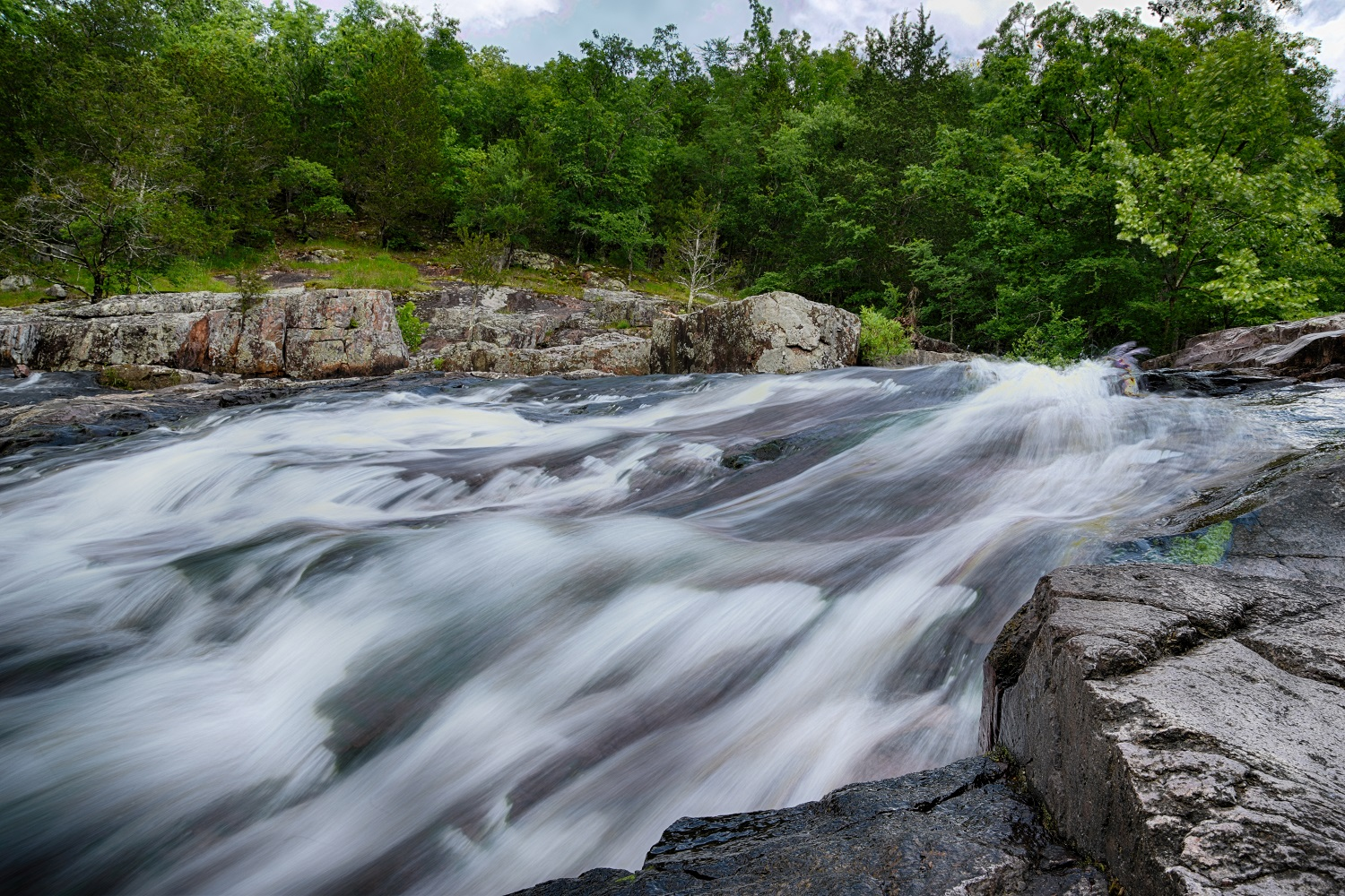 Another image of Rocky Falls near Eminence Missouri