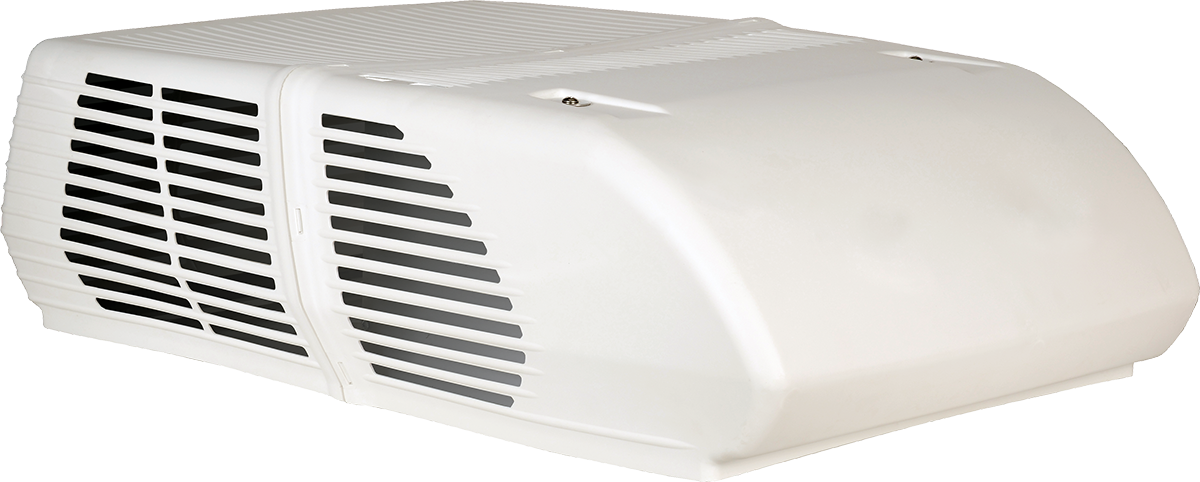 White Roof-Mounted air conditioner