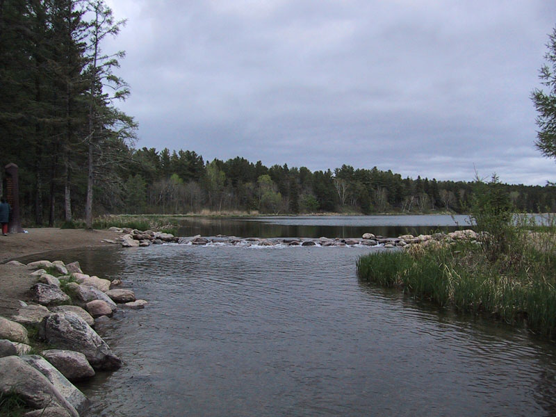 River flowing from a lake.