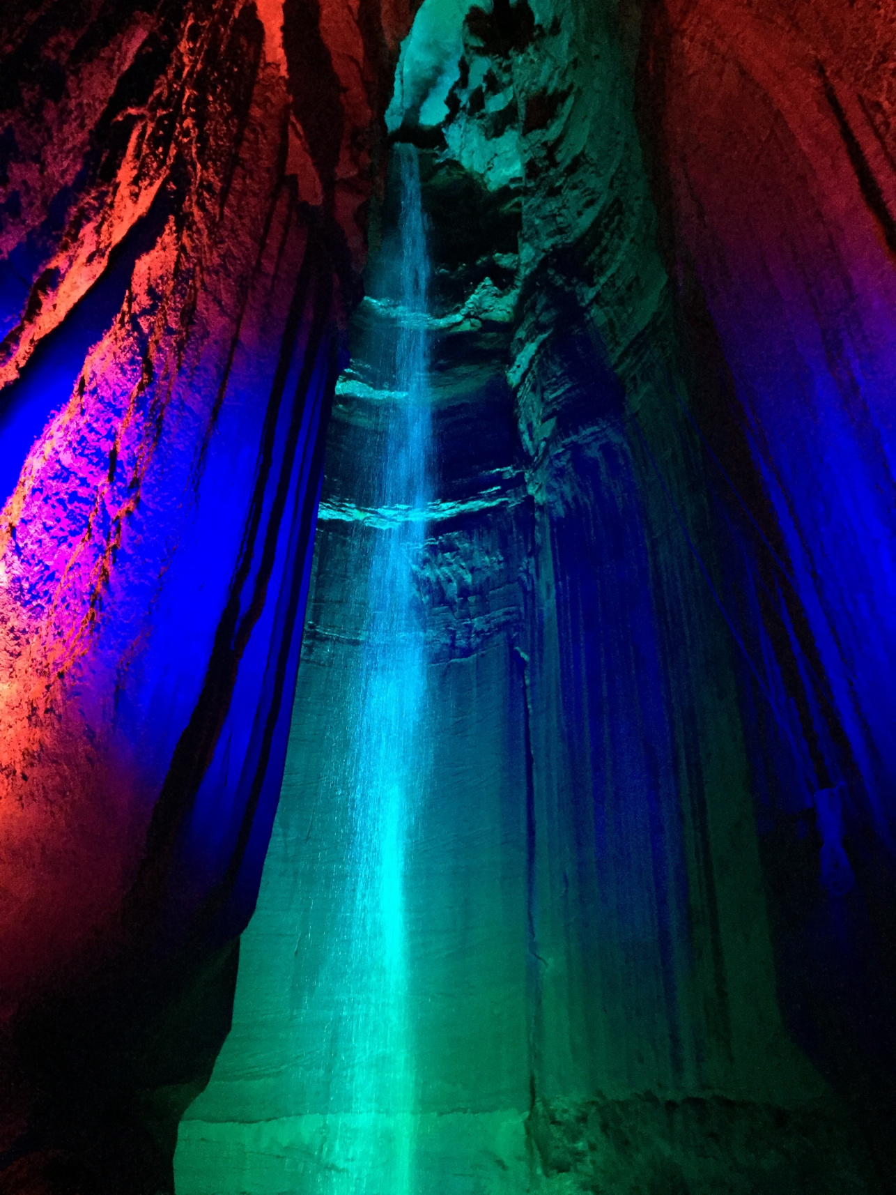 Ruby Falls, the tallest underground waterfall