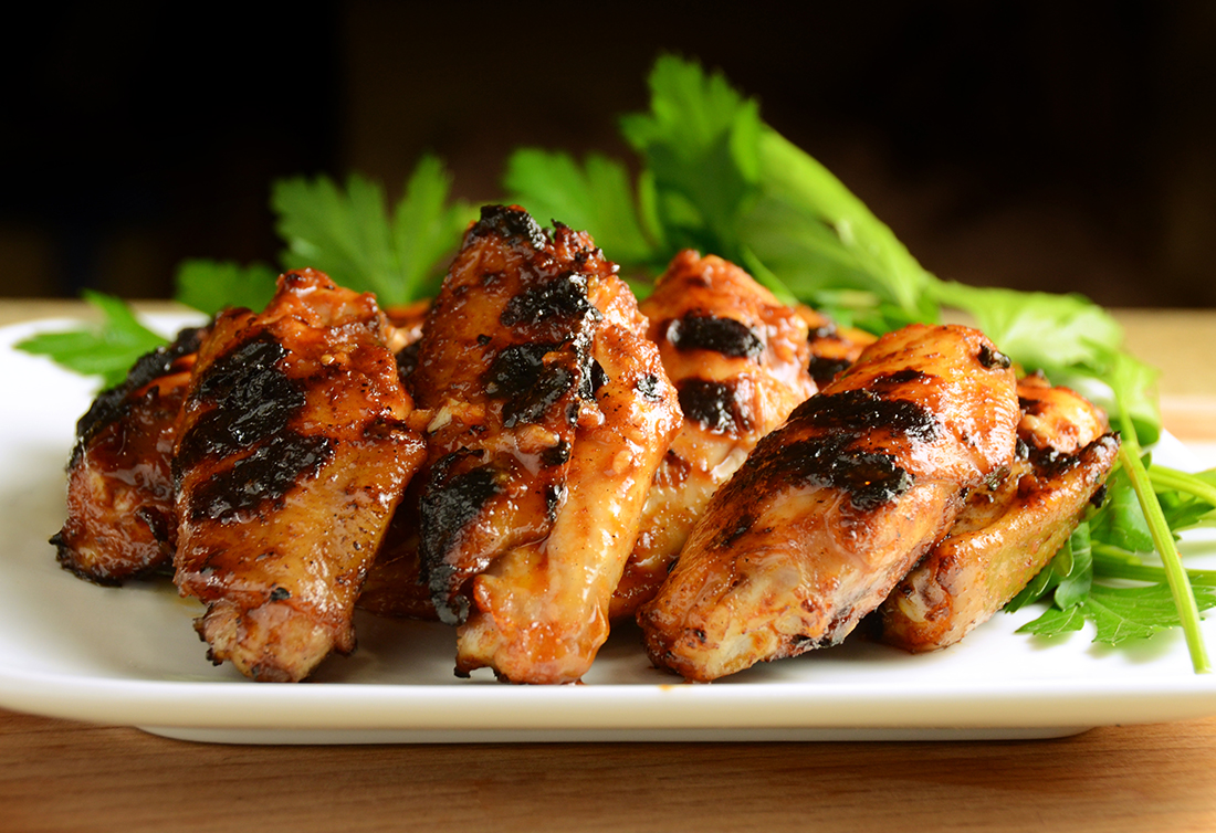 Grilled chicken on a neat plate