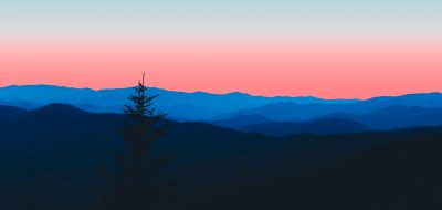 Make the South your go-to spot A hazy forest mountain horizon