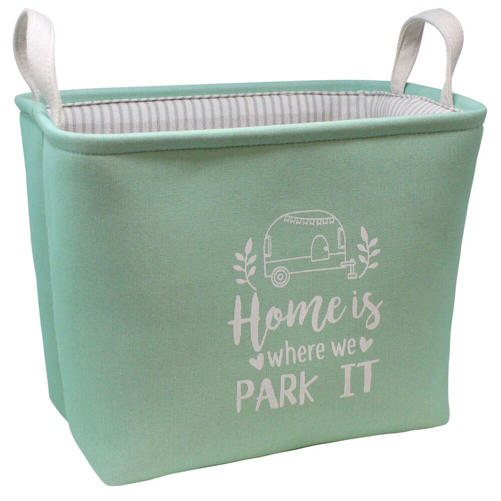 Green storage bin.
