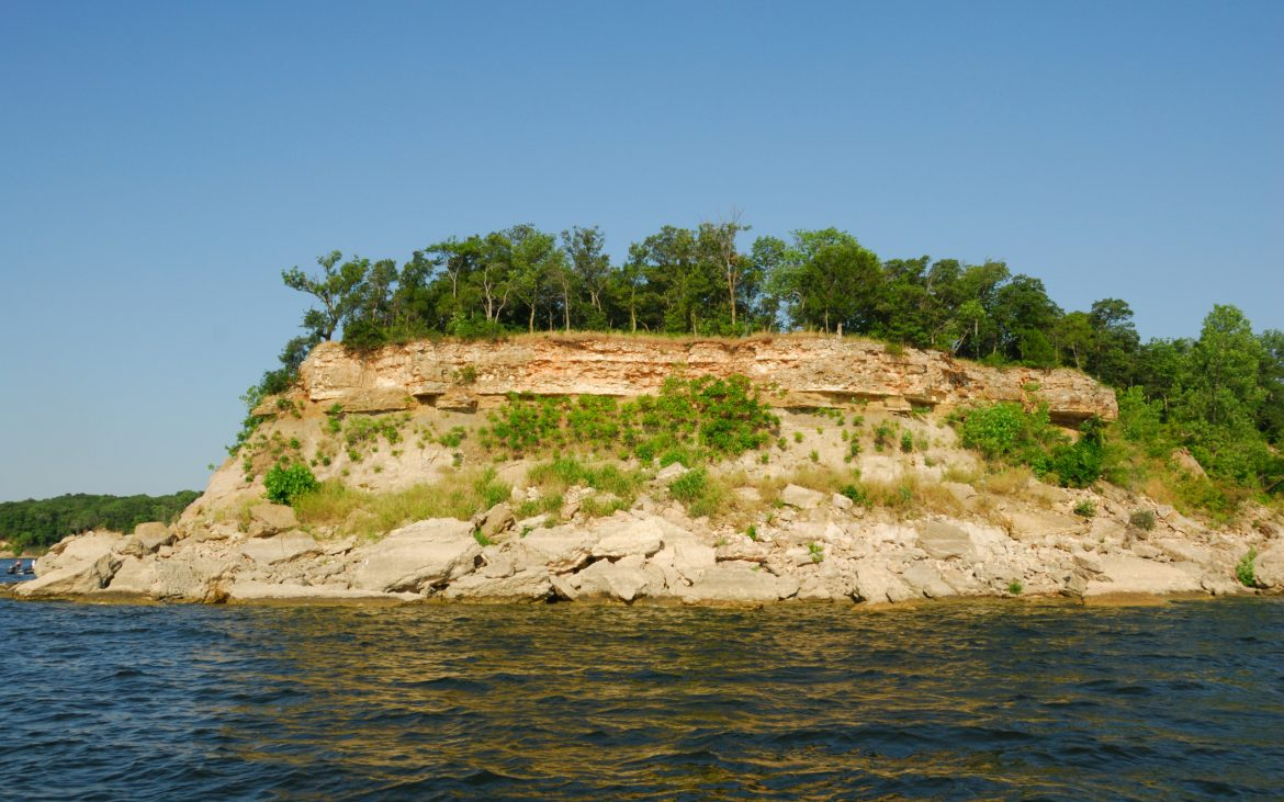 Lake Texoma Shoreline in Texas