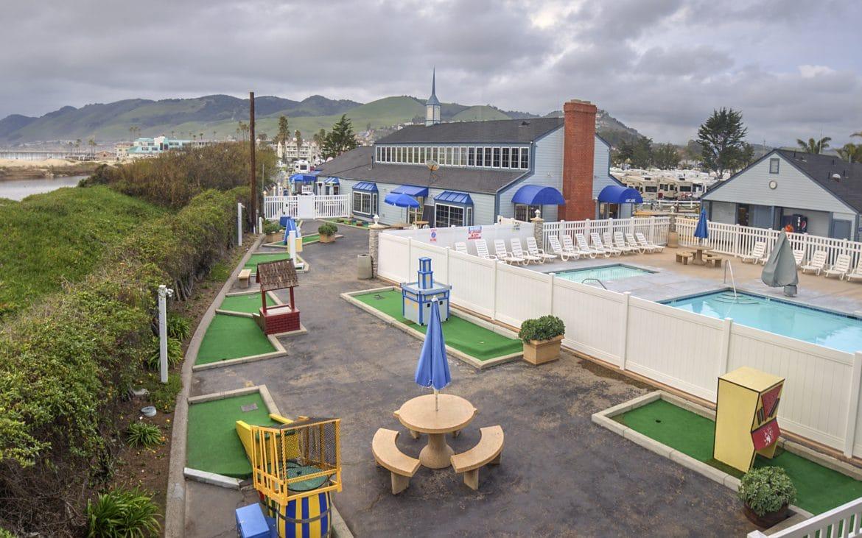 Pismo Coast Village RV Resort with pool, mini golf on beach