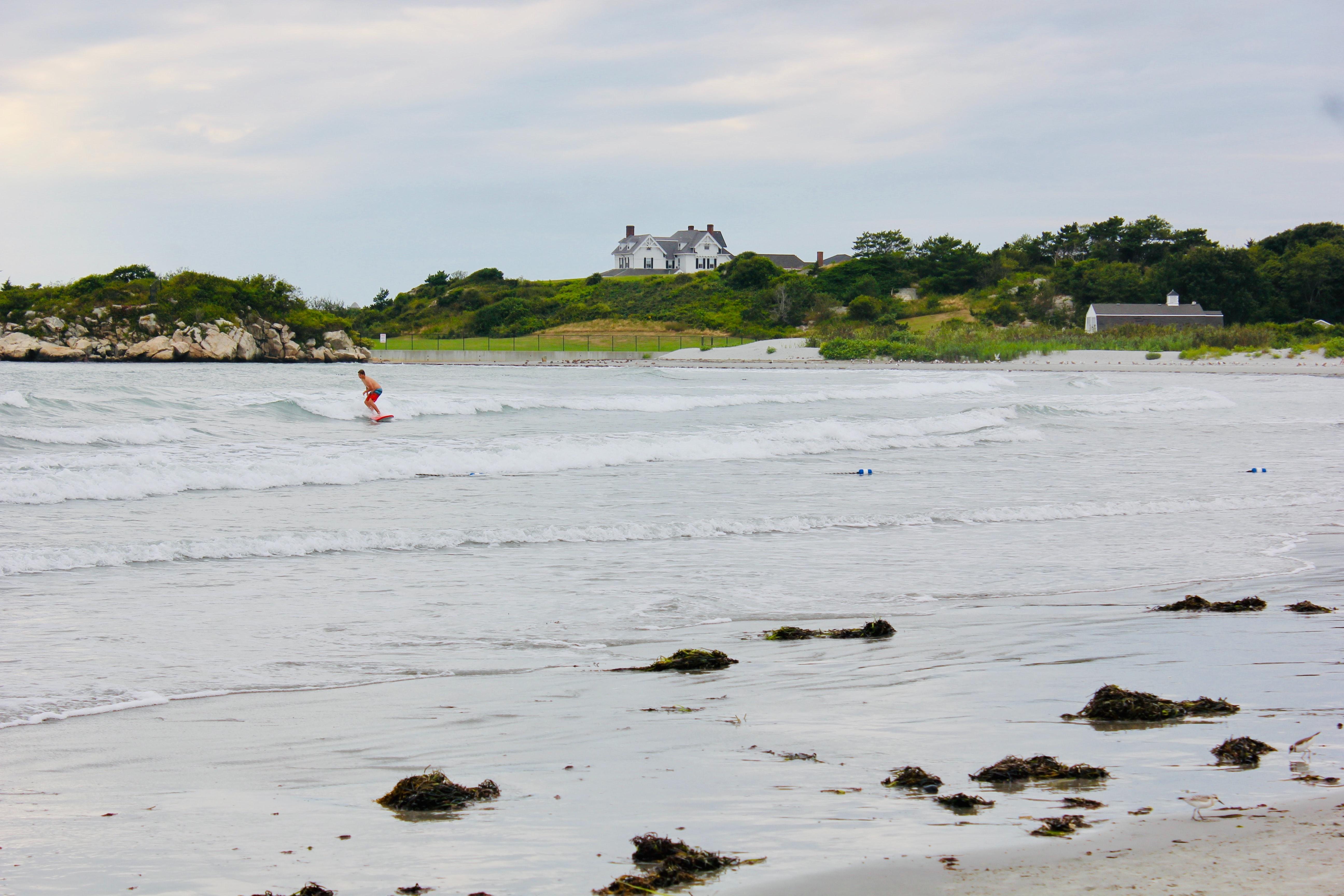 Surfer in Newport, Rhode Island