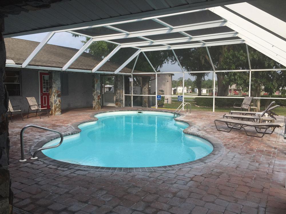 Indoor swimming pool at Craig's RV Park