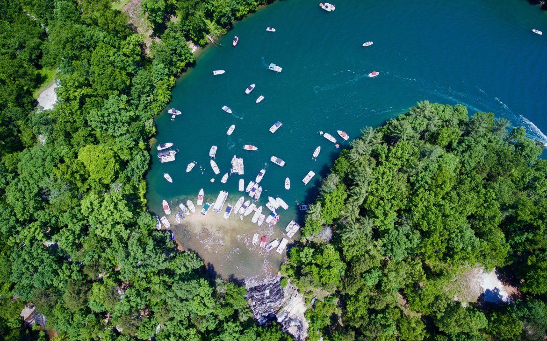 Aerial view of Lake Keowee, South Carolina