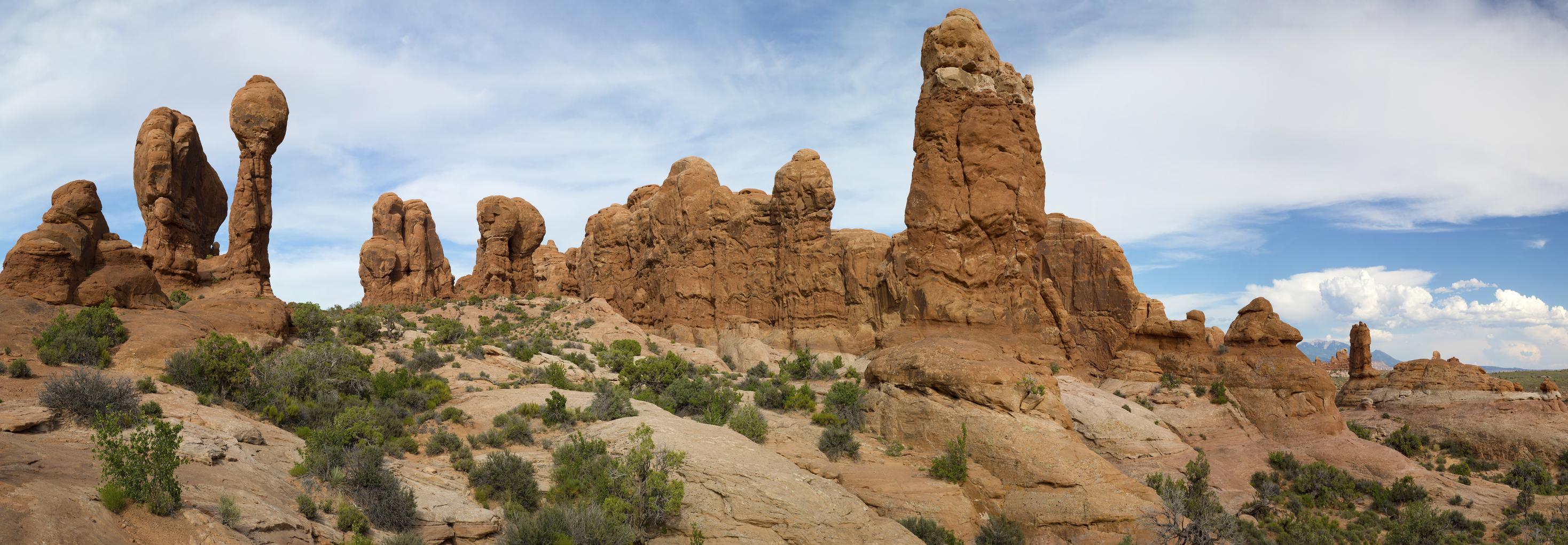 Pillars of rock in Arizona.