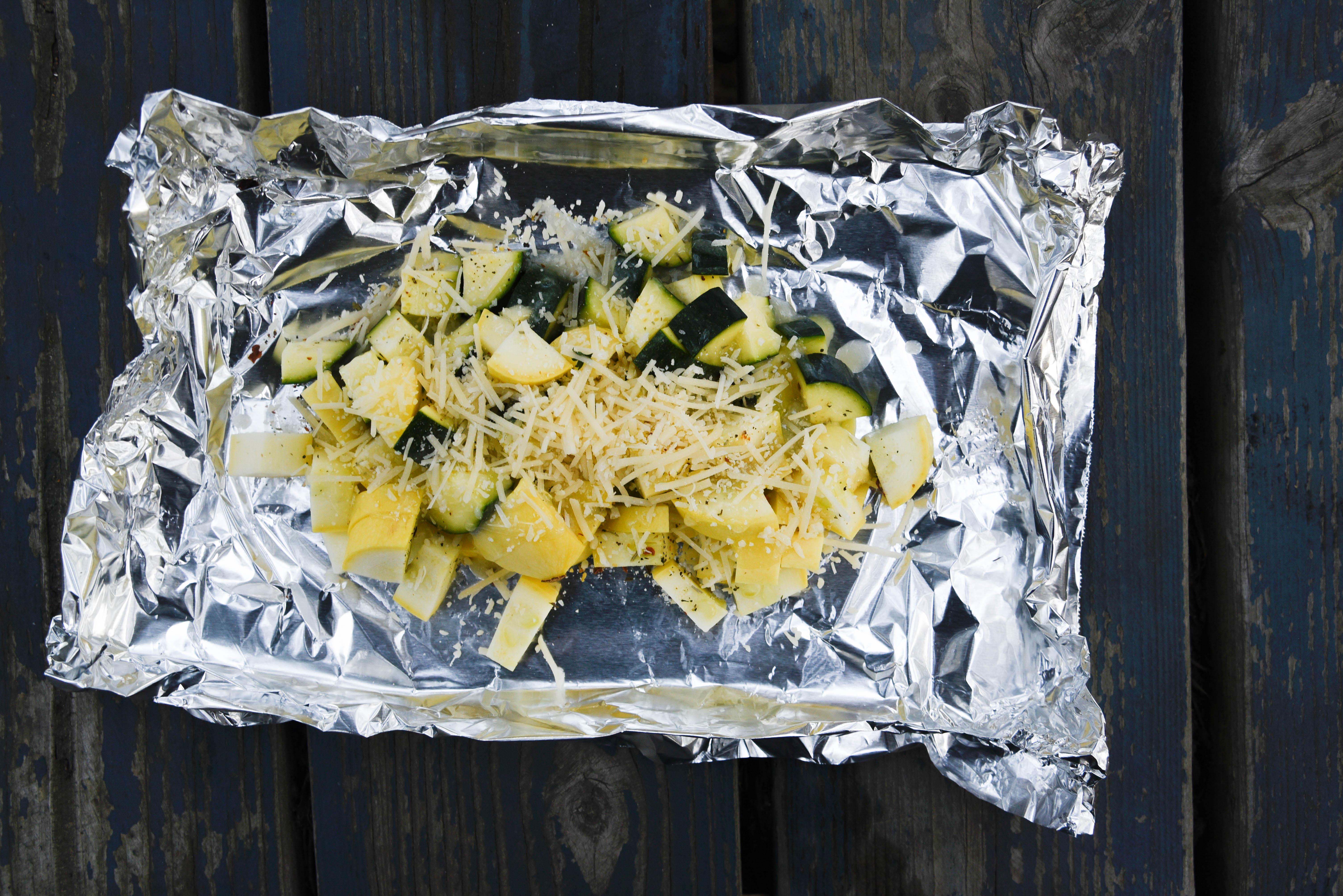 cheese tipping Zucchini