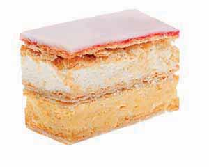 Delectable sugar cream cake.