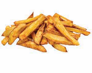 A pile of crispy French fries