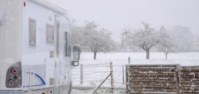 RV in snowy environment