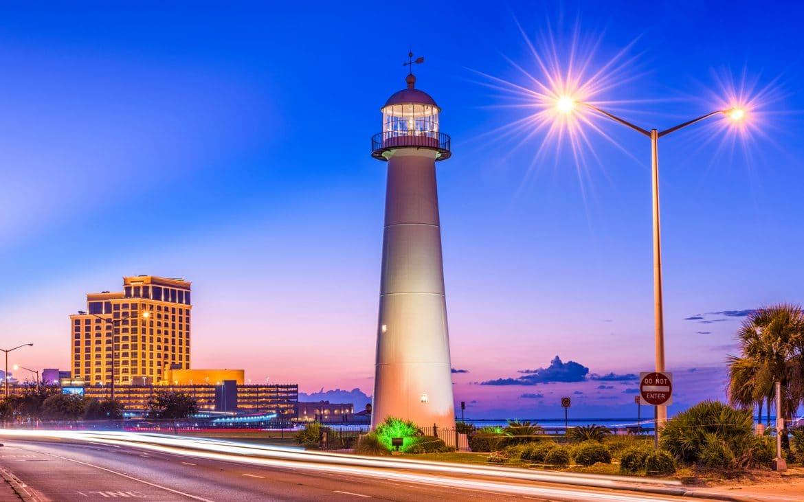 Biloxi Lighthouse in Mississippi
