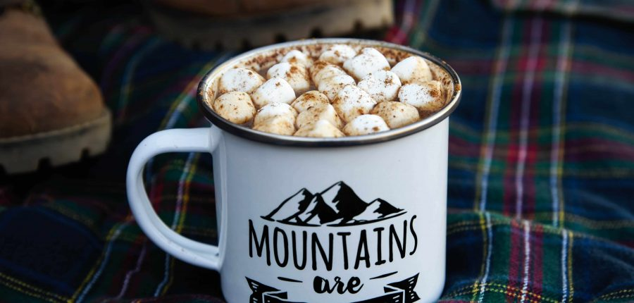Pumpkin Spice Hot Chocolate with marshmallows
