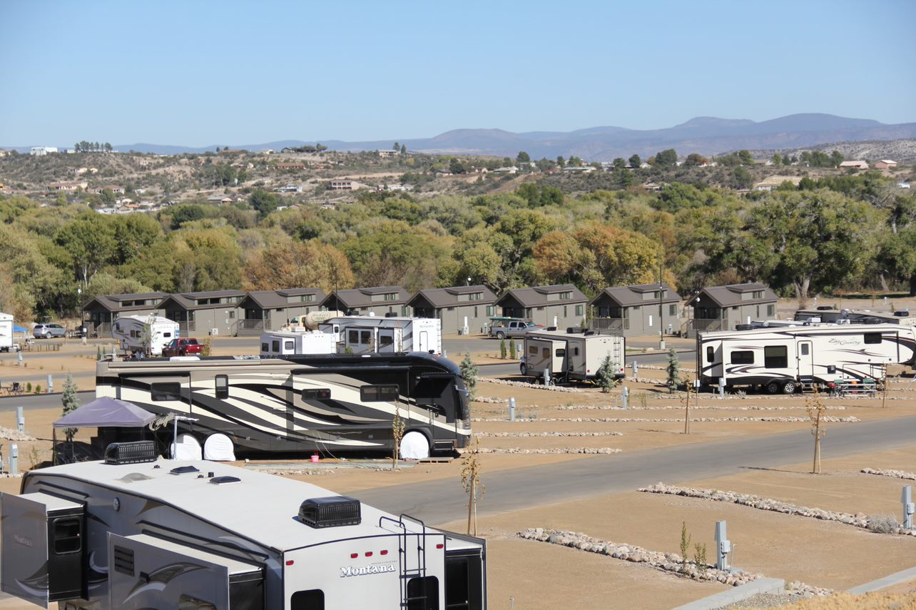 RV park with dirt lots.
