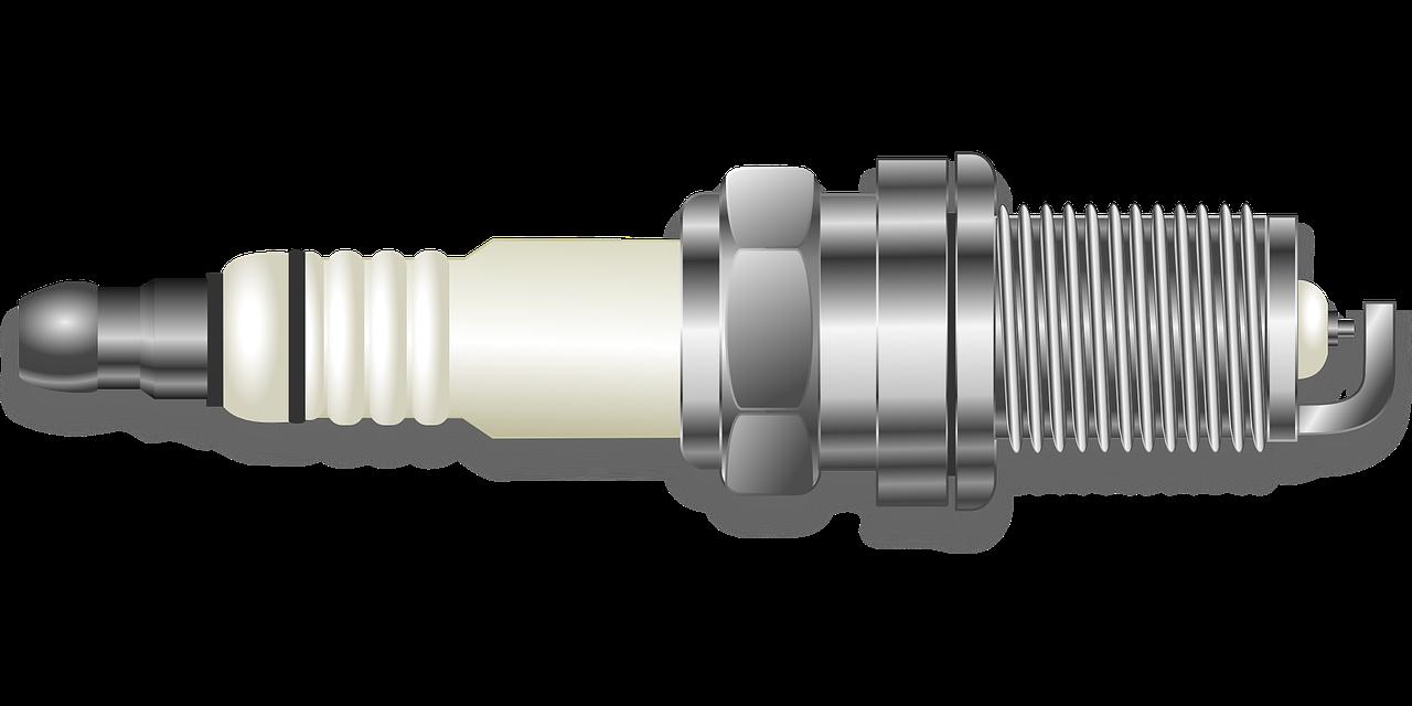 Digital illustration of a spark plug.
