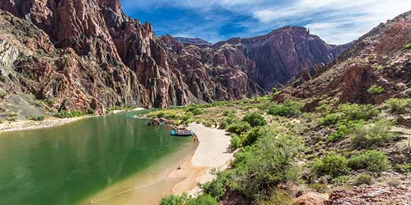 Beach On The Colorado River In The Grand Canyon