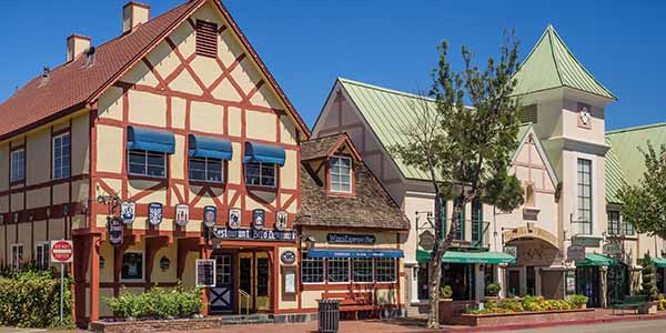 Danish looking buildings in Solvang
