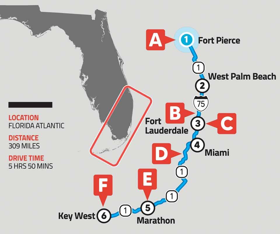 Florida Atlantic Map