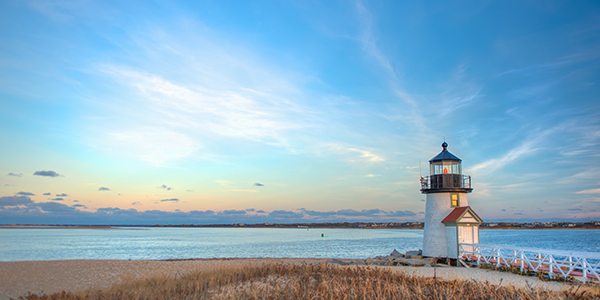 A lighthouse in Nantucket