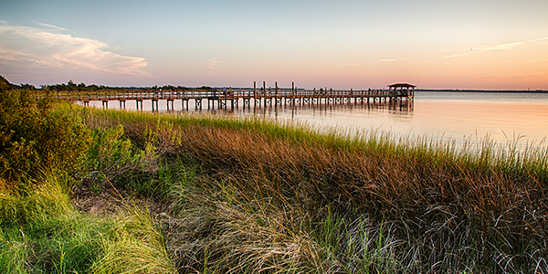 The pier on the Fort Fisher Recreation Area