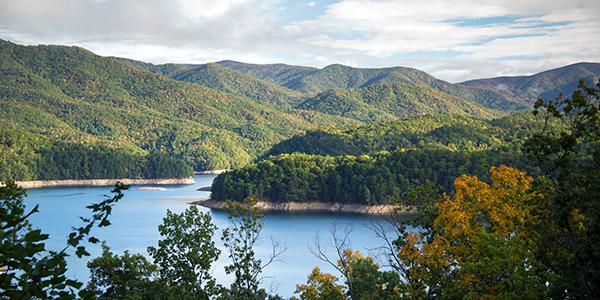 Overlooking the vast mountainous region around Fontana Lake