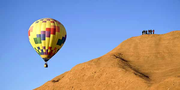 Hot air ballooning in New Mexico.