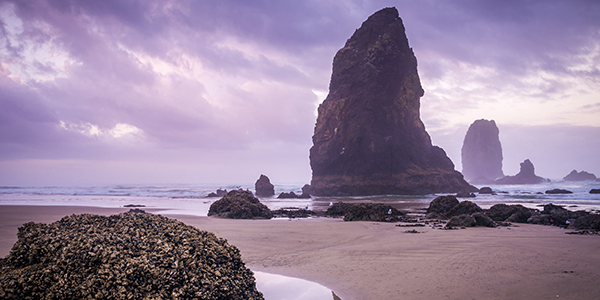 Cannon Beach along the Oregon Coast