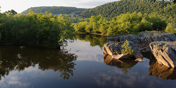 Reflections in the Susquehanna River