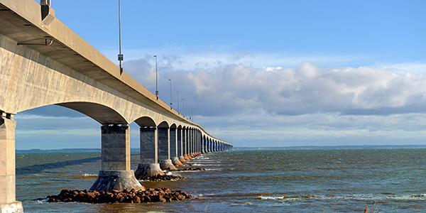 The Confederation Bridge. Linking Prince Edward Island to the mainland.