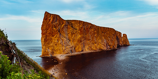 The Percé Rock in the evening