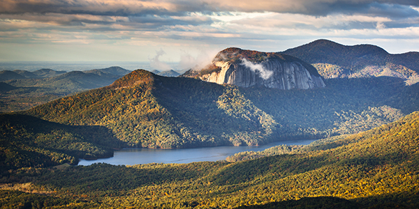 Table Rock State Park South Carolina Blue Ridge Mountains Landscape