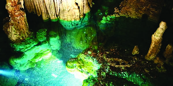 Water in the Luray Caverns.
