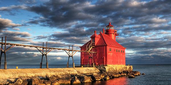 Sturgeon Bay Lighthouse Reflection