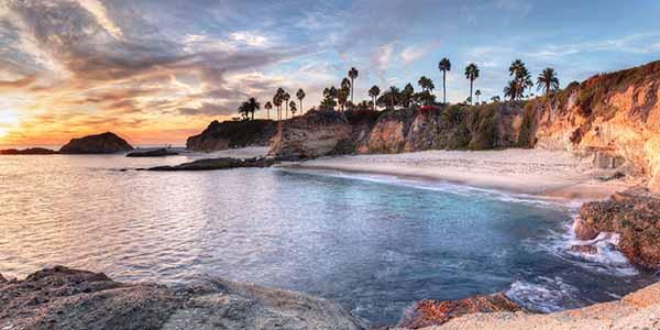 Sunset view of Treasure Island Beach