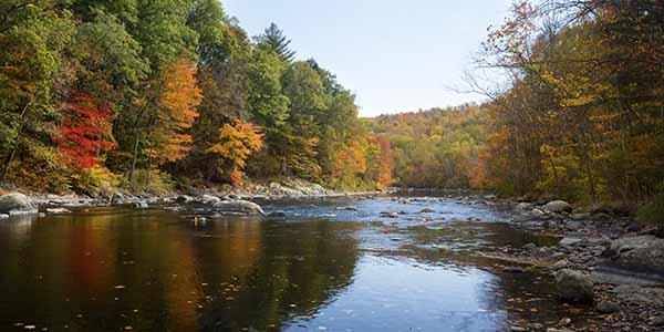 Farmington River in Canton, Conn