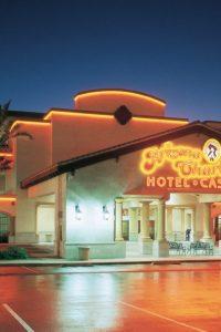 Neon-lit casino