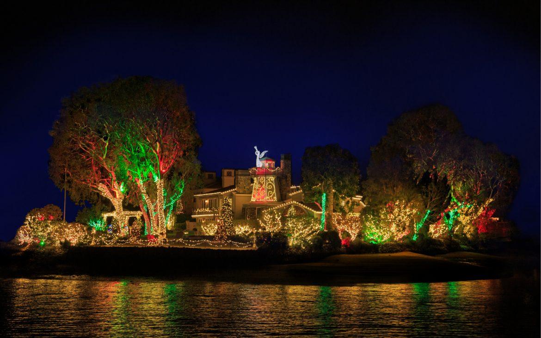 Newport Beach lit up for holidays