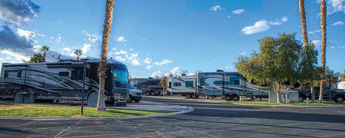 Outskirts of Las Vegas rvs parked