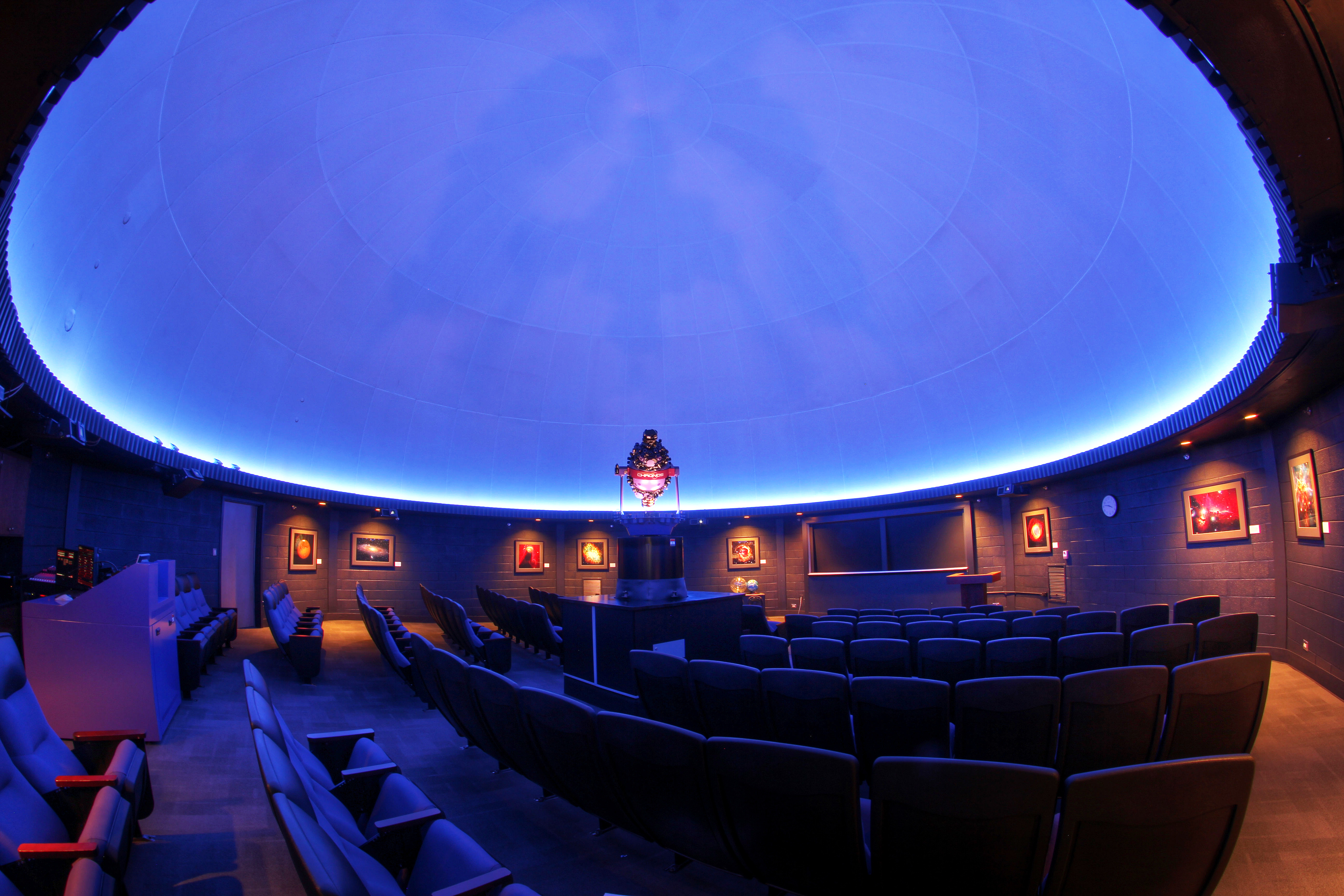 Theater dome with projector