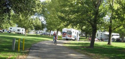 Bike Riding through a tranquil RV park.