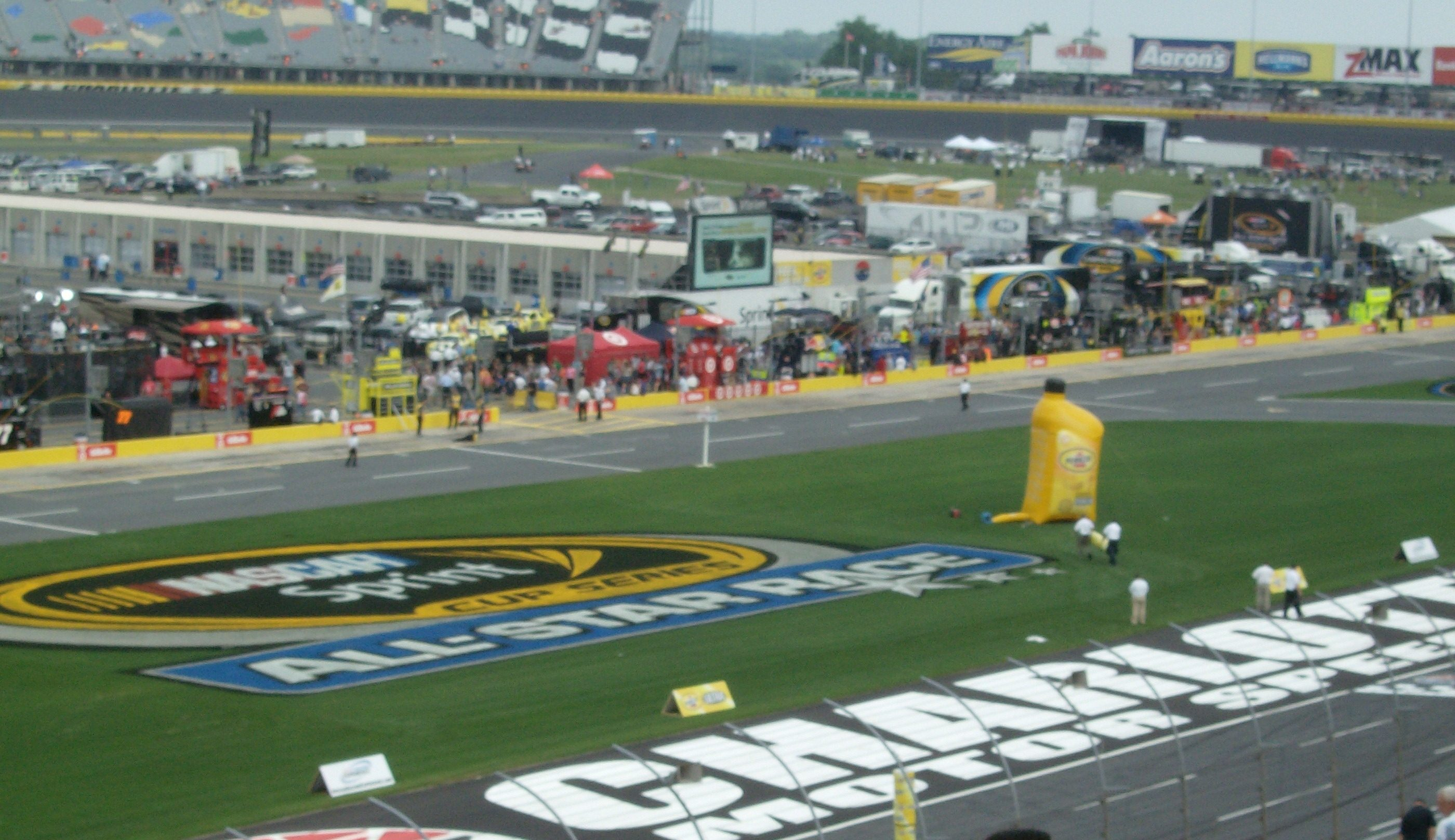 View of track and infield.